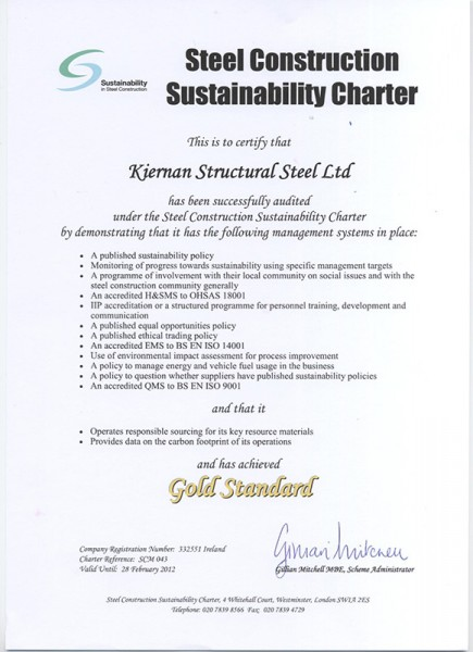 BCSA Sustainability Charter Gold Standard