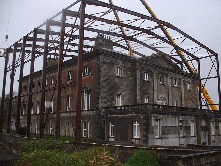 steel cladding high temporary portal frame for westport house